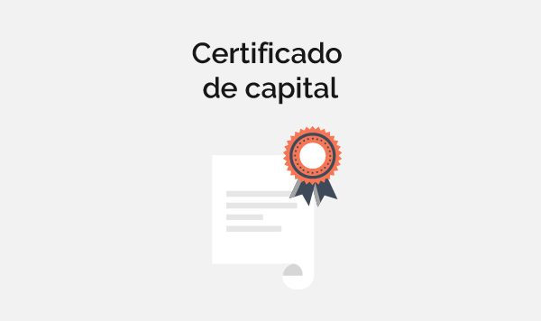Certificado de capital