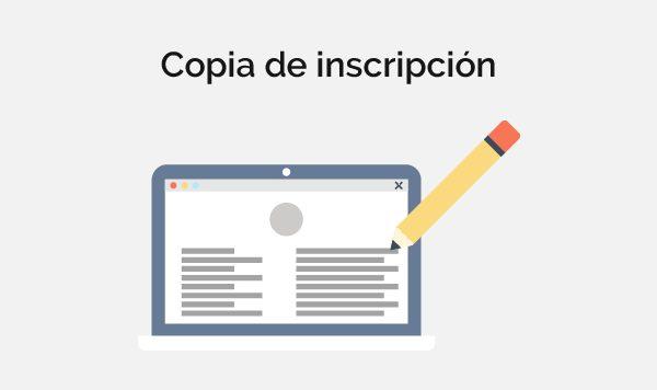 COPIA DE INSCRIPCIÓN