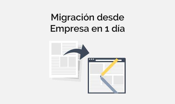 Migración desde empresa en 1 día